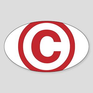 I Am Copyright Sticker (Oval)