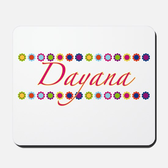Dayana with Flowers Mousepad