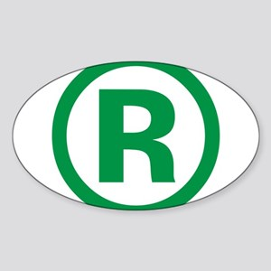 I Am Registered Sticker (Oval)