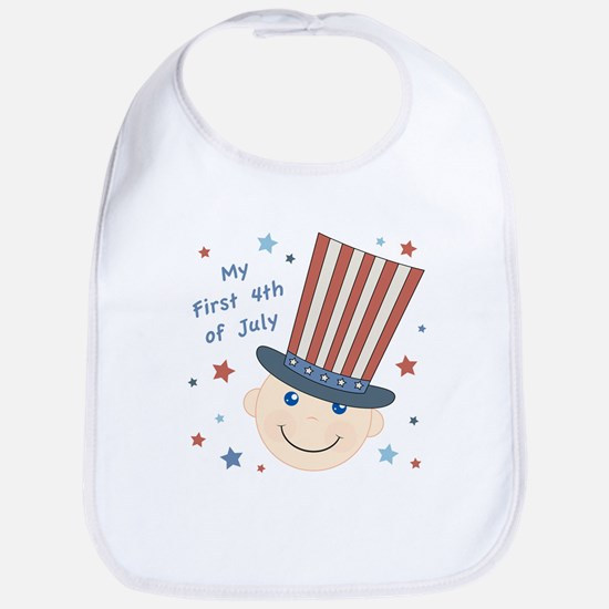 Baby's First 4th Bib