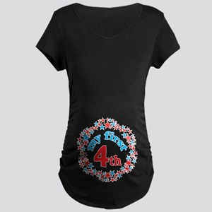First 4th of July Maternity Dark T-Shirt