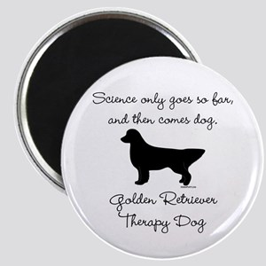 Golden Retriever Therapy Dog Magnet
