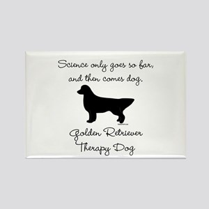 Golden Retriever Therapy Dog Rectangle Magnet