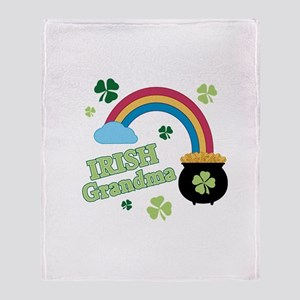 Irish Grandma Throw Blanket