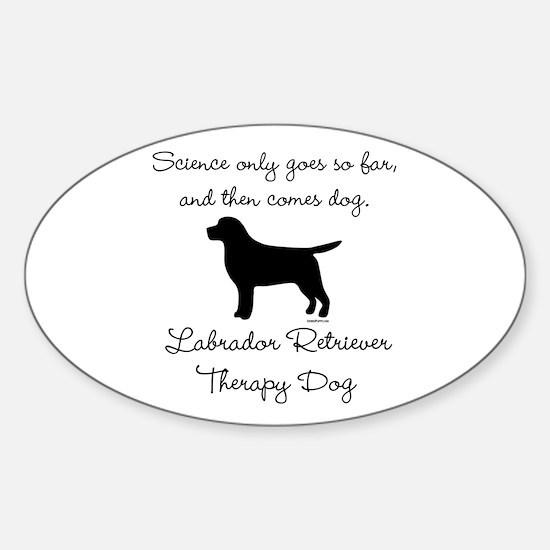 Labrador Retriever Therapy Dog Sticker (Oval)
