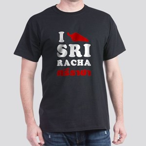 I Love Sriracha Dark T-Shirt
