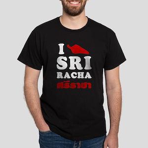 I Love Sriracha Dark T-Shirt
