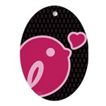 Little Birdie (BCA Dark/Black) Ornament (Oval)