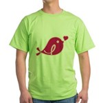 Little Birdie (BCA Dark/Black) Green T-Shirt