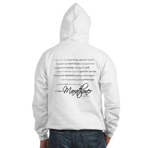 I Am a Marathoner Hooded Sweatshirt