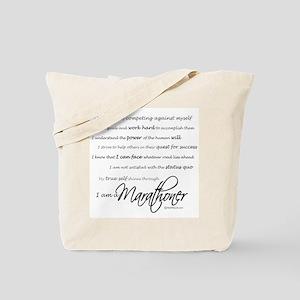 I Am a Marathoner Tote Bag
