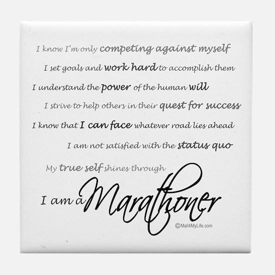 I Am a Marathoner Tile Coaster