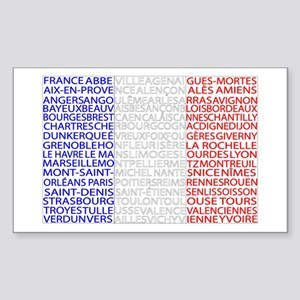 French Cities Flag Sticker (Rectangle)
