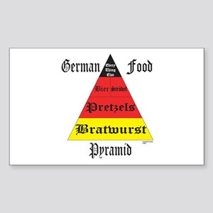German Food Pyramid Sticker (Rectangle)