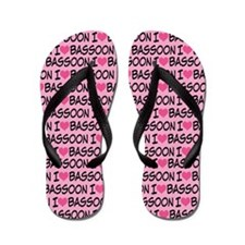 I Love Bassoon Music Flip Flops