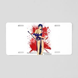 Ninja Skin Death Dealer Aluminum License Plate
