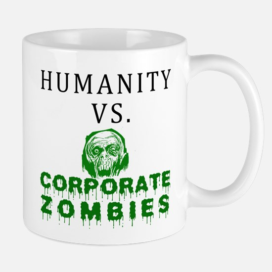 Humanity vs. Corporate Zombie Mug