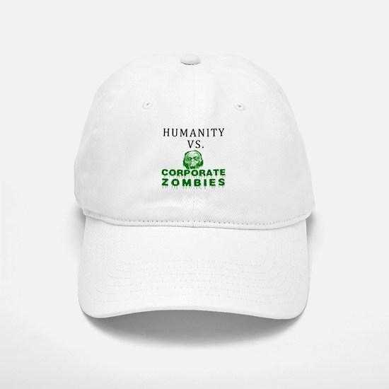 Humanity vs. Corporate Zombie Baseball Baseball Cap