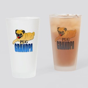 Fawn Pug Grandpa Drinking Glass