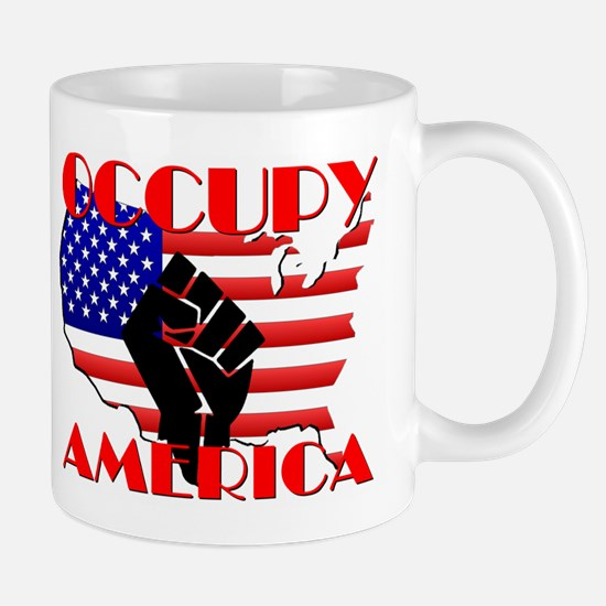 Occupy America USA Flag Mug