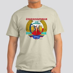 Czechoslovakia 1980 T-Shirt in Tan, Ash or Blue