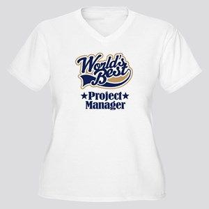 Project Manager Gift Women's Plus Size V-Neck T-Sh