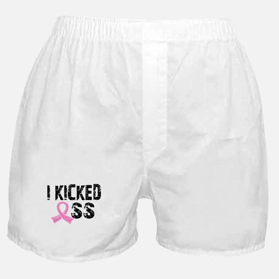 I Kicked Ass Breast Cancer Boxer Shorts