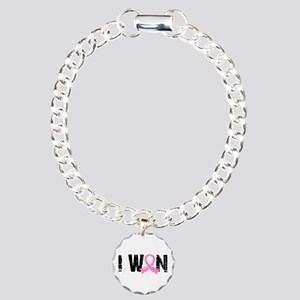 I Won Breast Cancer Charm Bracelet, One Charm