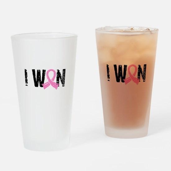 I Won Breast Cancer Drinking Glass