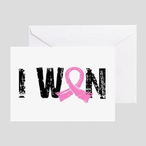 I Won Breast Cancer Greeting Card
