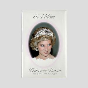HRH Princess Diana Remembrance Rectangle Magnet