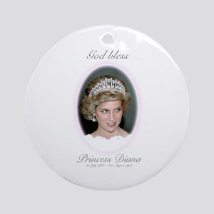 HRH Princess Diana Remembrance Ornament (Round)