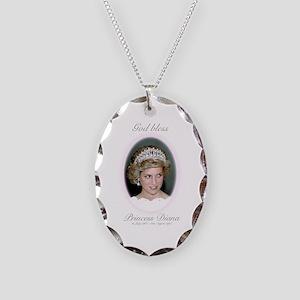 HRH Princess Diana Remembrance Necklace Oval Charm