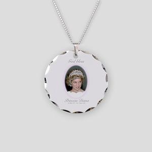 HRH Princess Diana Remembran Necklace Circle Charm