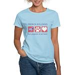 French Bulldog Pawprints Women's Light T-Shirt