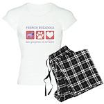 French Bulldog Pawprints Women's Light Pajamas