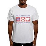 French Bulldog Pawprints Light T-Shirt