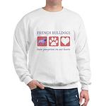 French Bulldog Pawprints Sweatshirt