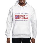 French Bulldog Pawprints Hooded Sweatshirt