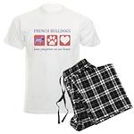 French Bulldog Pawprints Men's Light Pajamas