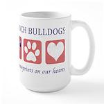 French Bulldog Pawprints Large Mug