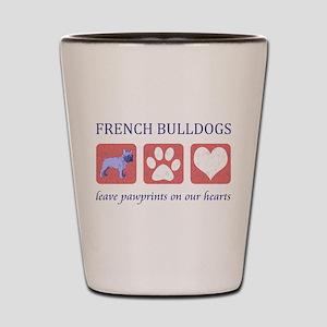 French Bulldog Pawprints Shot Glass