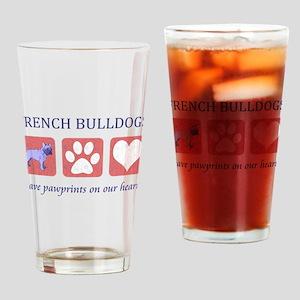 French Bulldog Pawprints Drinking Glass