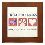 French Bulldog Pawprints Framed Tile