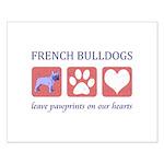 French Bulldog Pawprints Small Poster