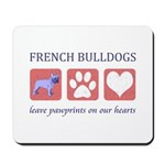 French Bulldog Pawprints Mousepad