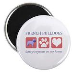 French Bulldog Pawprints Magnet