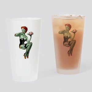 zombie pin-up girl Drinking Glass
