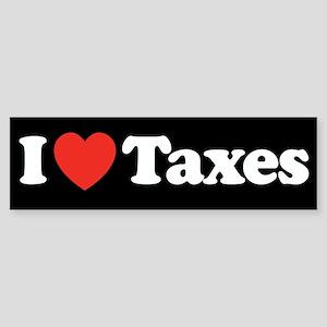 I Heart Taxes Sticker (Bumper)