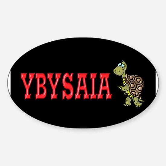 Walking Turtle YBYSAIA Oval Decal